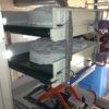 Konveierlift pesutablettide viimiseks liinikuivatitesse